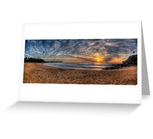 A Sky To Die For - Warriewood Beach, Sydney ( 35 Exposure HDR Panorama) - The HDR Experience Greeting Card