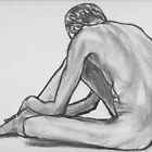 Seated Male Nude by Les Sharpe
