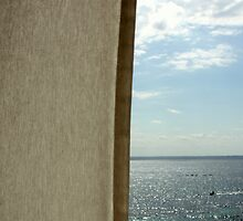 Curtain sea and sky by Esther  Moliné