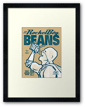 Vintage Rocketboy Beans Ad - Captain RibMan by Captain RibMan
