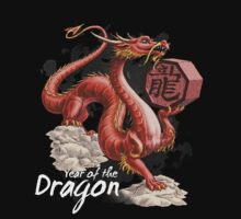 Year of the Dragon (for dark shirts) Kids Clothes