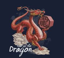 Year of the Dragon (for dark shirts) by Stephanie Smith