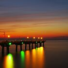 Sunset at the Chesapeake Pier  by cvrestan
