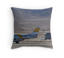F-86 Sabre taking off Throw Pillow