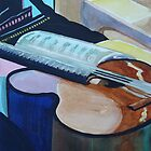 Guitar Study Abstract by Peter Johnson