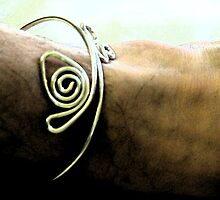 Bangled - silver bangle on male ankle by SuziTC