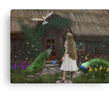 The Enchanted Cottage... Canvas Print