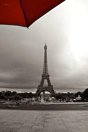 Eiffel in Red! by Gursimran Sibia