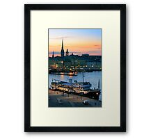 Stockholm By Night Framed Print