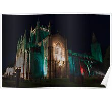 Dunfermline Abbey at night Poster