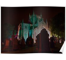 Dunfermline Abbey at night 2 Poster