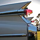 1959 Cadillac fins at sunset by Ferenghi