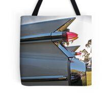 1959 Cadillac fins at sunset Tote Bag