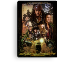 Pirates of the Caribbean Poster Canvas Print