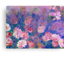 Peony Impressions in Pinks and Purples Canvas Print