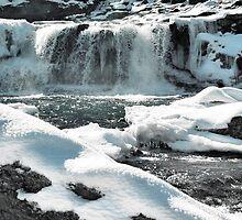 waterfall at babcock falls, wv by fotoflossy