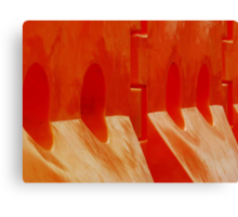 Orange Barriers Canvas Print