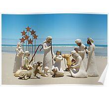 Nativity scene @ the beach Poster