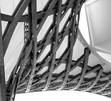 Pompidou Metz: The roof structure in B&W (II) by bubblehex08