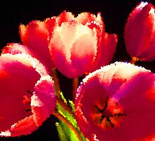 Painting Tulips. by Vitta