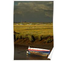 Storm Approaching Blakeney Quay, Norfolk. Poster