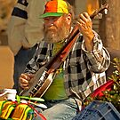 San Francisco Street Musician with Banjo  by Buckwhite