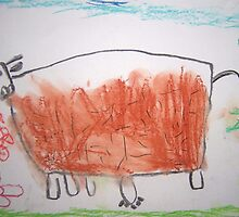 Cow (by my 4 yr old) by Dianne  Ilka