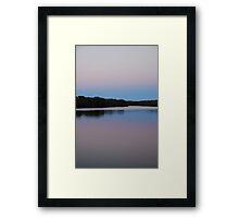 Minimalist Dawn in the Tweed Framed Print
