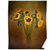 Sun Flowers in a Vase . Poster