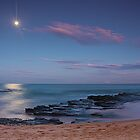 Moon over Turrimetta beach  by Doug Cliff