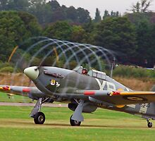 Hurricane Vortex - Shoreham Airshow 2010 by Colin J Williams Photography
