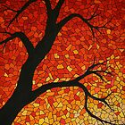 autumn mosaic by Paul Barralet