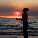 The Juggler - Mindil market, Darwin by Jenny Dean