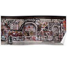 New York Street Art Panoramic Poster