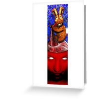 Bread Bunny Eating Brains Greeting Card