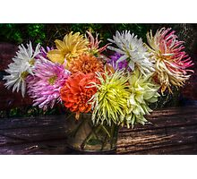 Bouquet of dahlias Photographic Print