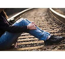 Nike Tracks Photographic Print
