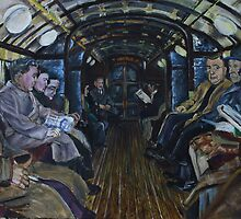 Glasgow Subway Commuters by Paul  Gibb