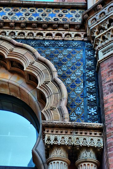 St Paul's House, Leeds, Door tiling by Colin Metcalf