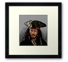 JOHNNY DEPP, PIRATES OF THE CARRIBEAN Framed Print