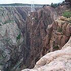 Royal Gorge, Colorado with Arkansas River at Bottom by David  Hughes