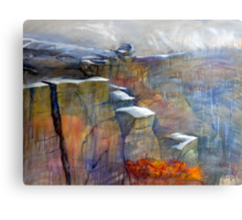 Snow Approaching Stanage Canvas Print