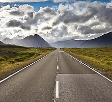 The Road to Glencoe - Scotland by Mathew Roberts