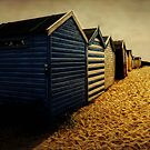 Beach Huts  by Karen  Betts