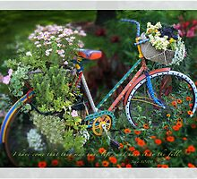 Flower Bike by JulieLegg