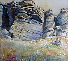 Summer on Stanage Edge by Sue Nichol