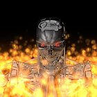 Terminator T-800 In Flame  by DW3DMAYA