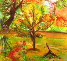 My Art Teacher's Crab Apple Tree by Helena Bebirian