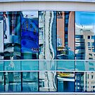 Reflected on the Eaton Centre, Toronto, ON, Canada by Gerda Grice