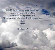 He is coming amid the clouds . . . by Bonnie T.  Barry